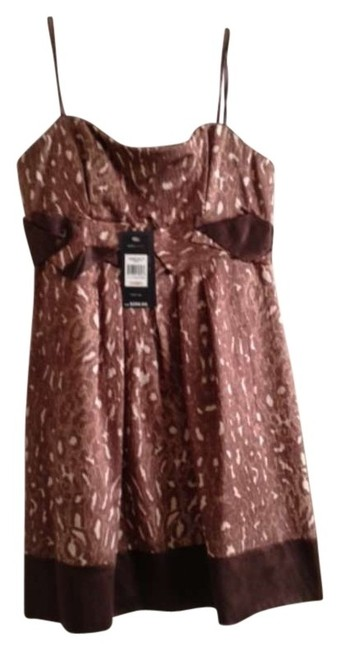 Preload https://item1.tradesy.com/images/bcbgmaxazria-brown-multi-new-strapless-above-knee-cocktail-dress-size-12-l-117265-0-0.jpg?width=400&height=650