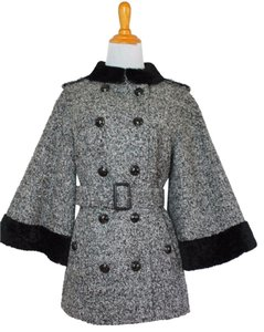 Burberry Shearling Fur Wool Winter Pea Coat