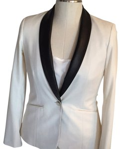 Elizabeth and James Ivory/black leather Blazer