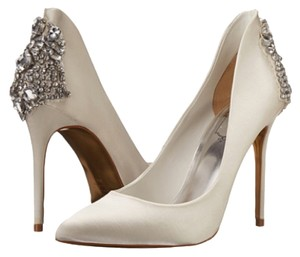 Ted Baker Wedding Embellished Satin Bling Ivory Pumps