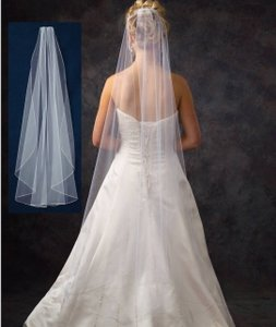 J.L. Johnson Bridals Waltz Length Cusom Made Diamond White Wedding Veil
