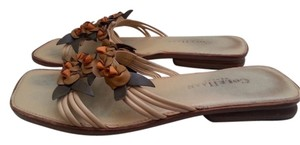 Cole Haan ,orange and brown flovers Sandals