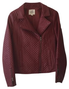 Esley Marsala Leather Jacket