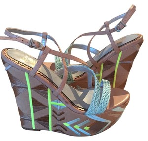 Sam Edelman Mint / neutral/ beige Wedges