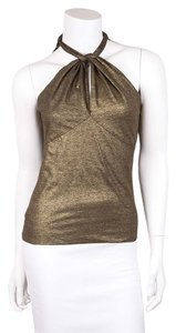Ralph Lauren Gold and Black Halter Top