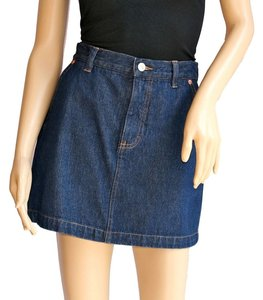 London Jean Denim Retro Mini Skirt Blue