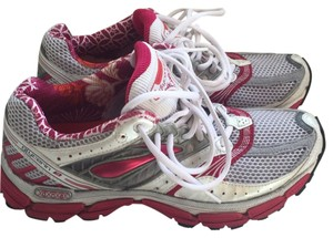 Brooks Running Like New Pink/silver/white with metallic accents Athletic