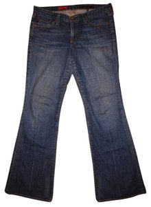 Reserved Denim Worn Distressed 31r Boot Cut Jeans-Distressed