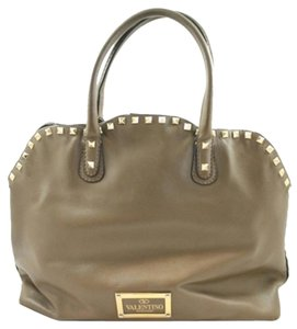 Valentino Satchel in Dark Taupe