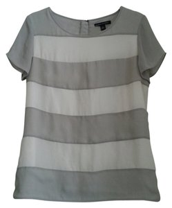 Banana Republic Striped Top Grey and White