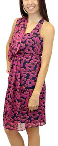 MM Couture Miss Me Drape Floral Flowy Abstract Print Animal Print One Shoulder Dress