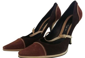 Casadei Suede Brown Pumps