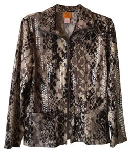 Ruby Rd. Shimmery Elegant Evening Out Black and gray. Blazer