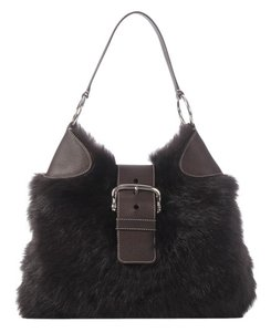 Prada Pr.j1208.03 Brown Fur Hobo Bag