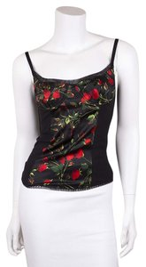 Dolce&Gabbana Top Black & Red Floral Print