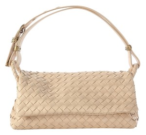Bottega Veneta Bv.j0619.05 Cream Woven Leather Handbag Satchel
