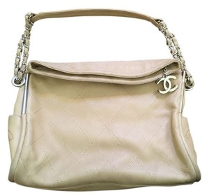 Chanel Classic Boy Lamb Skin Beige Shoulder Bag