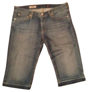 AG Adriano Goldschmied Distressed Bermuda Shorts Jean
