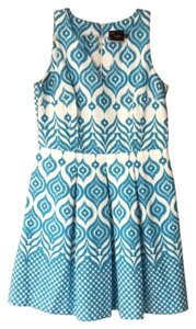 Just Taylor short dress Turquoise and white on Tradesy