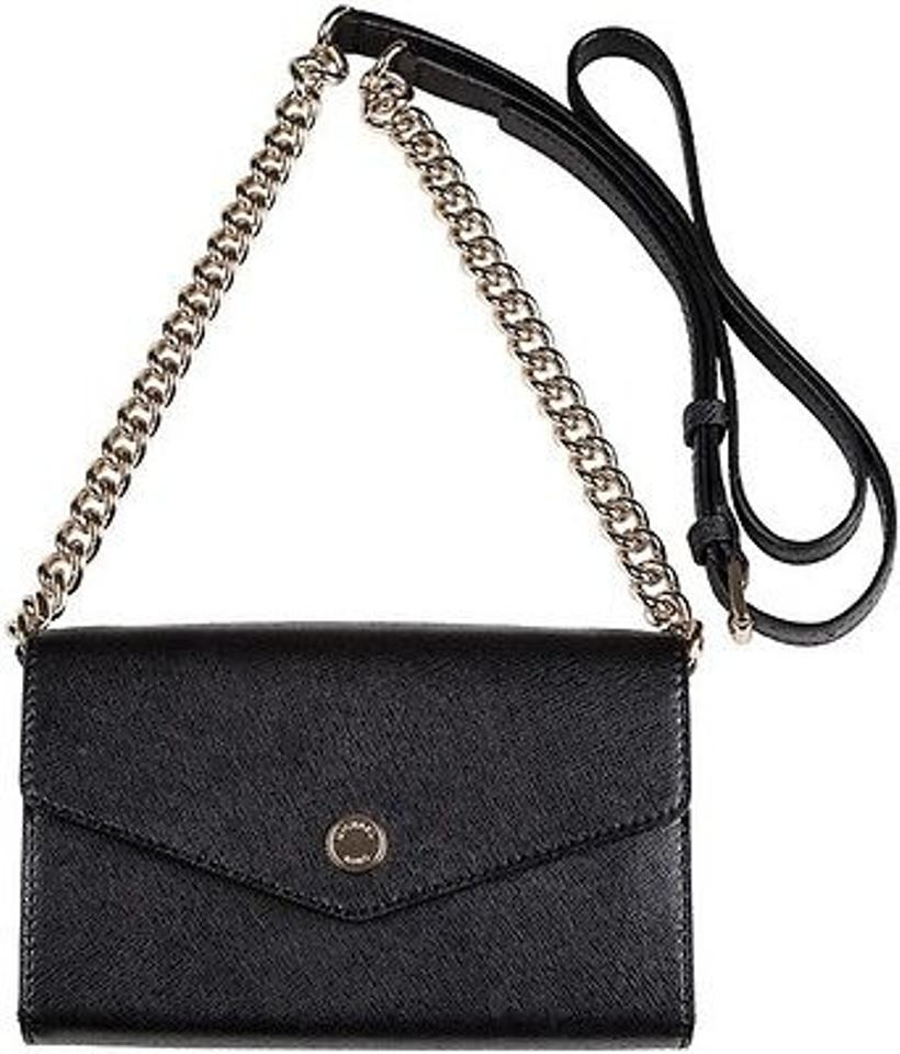 e0424c9f073b ... MICHAEL KORS CROSSBODY FOR APPLE IPHONE BLACK SAFFIANO CLUTCH BAG Image  1. 12