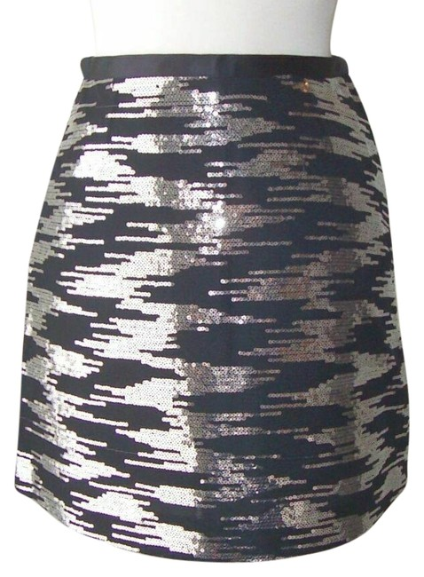 Item - Black Silver Sequins 4 Small Skirt Size 6 (S, 28)