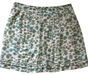 Loft Skirt Teal , Green and Light Beige.
