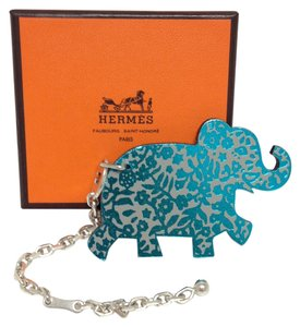 Hermès Hermes Large elephant Bag Charm Silver Chain For Birkin And Kelly bag
