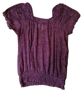 Merona Top Purple floral