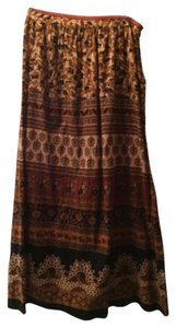 Forever 21 Maxi Skirt Brown and black