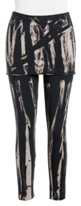 LVR Tie Dye Printed Yoga Workout Tights Cute 2 In 1 Black Tan Leggings