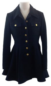 Laundry by Shelli Segal Military Gold Buttons Pea Coat