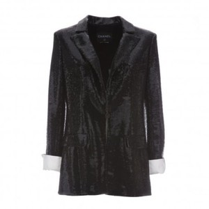 Chanel Blazer Single Button Blazer Black Jacket
