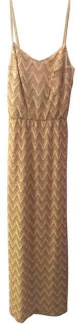 Item - Gold Deanna Maxi Long Night Out Dress Size 2 (XS)