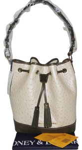 Dooney & Bourke Ostrich Drawstring Leather Shoulder Bag