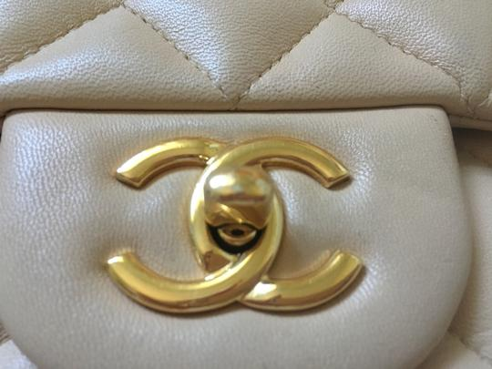 Chanel Quilted Chain Leather Jumbo Shoulder Bag