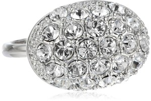 Tahari Oval Crystal Pave Ring, Size 7 341955 Silver