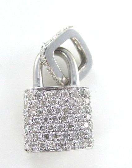 Preload https://img-static.tradesy.com/item/1173603/diamond-14kt-solid-white-gold-lock-94-200-carat-528-grams-fine-charm-0-0-540-540.jpg