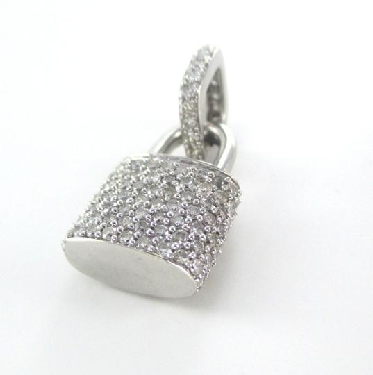 Other 14KT SOLID WHITE GOLD LOCK 94 DIAMONDS 2.00 CARAT CHARM 5.28 GRAMS FINE JEWELRY Image 3
