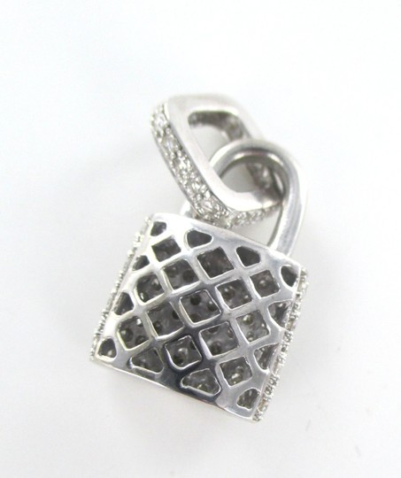 Other 14KT SOLID WHITE GOLD LOCK 94 DIAMONDS 2.00 CARAT CHARM 5.28 GRAMS FINE JEWELRY Image 5