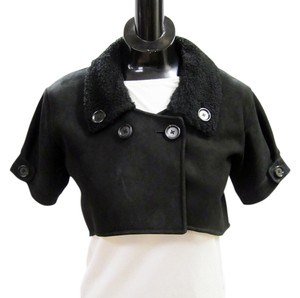 Bottega Veneta Short Short Cropped Bolero Bolero Leather Jacket