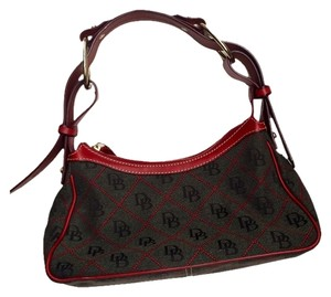 Dooney & Bourke Andburke #red #grey #quality #classic #signature @leather #fabric #chic Shoulder Bag