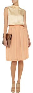 Chloé Satin Silk Crepe Smocked Waistband Ruched Dress