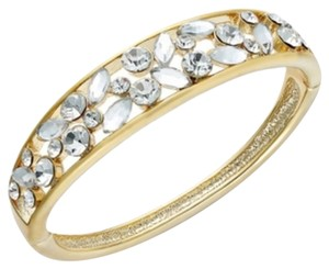 Charter Club Gold-Tone Glass Crystal Hinge Bangle Bracelet SCBOXSG
