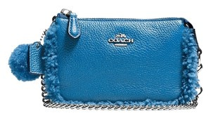 Coach Wristlet in PEACOCK/SILVER
