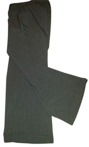 Worthington Wide Leg Pants Gray/brown pinstripe