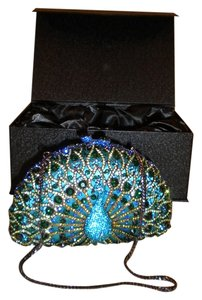 Other Rhinestones Peacock MULTI-COLORED Clutch