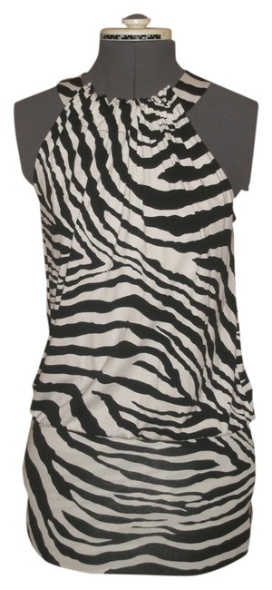 Express short dress Black & White Zebra Print on Tradesy