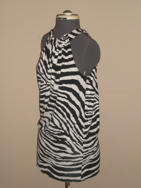 Express short dress Black & White Zebra Print on Tradesy Image 1