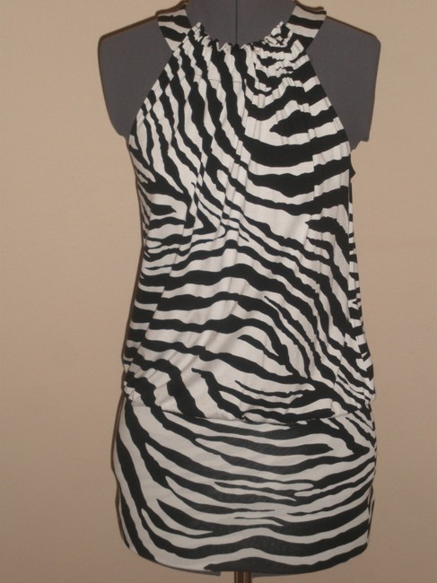 Express short dress Black & White Zebra Print on Tradesy Image 2