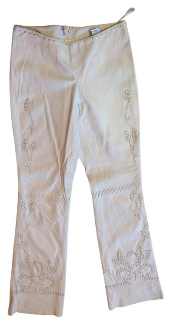 Cache Detailing Straight Pants White